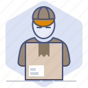 courier, delivery, logistics, package, packet, parcel, shipping icon