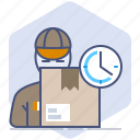 courier, delivery, logistics, packet, shipping, speed, time icon