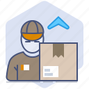 courier, loading, logistics, package, packet, return, shipping icon