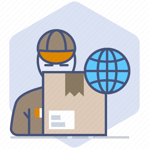 Courier, delivery, logistics, package, packet, shipping, worldwide icon - Download on Iconfinder