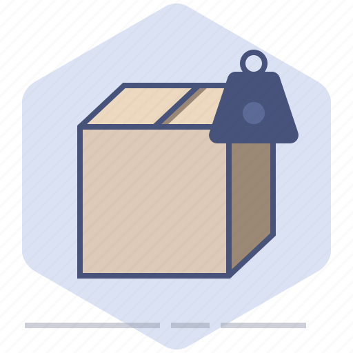 Box, delivery, logistics, package, packet, shipping, weight icon - Download on Iconfinder