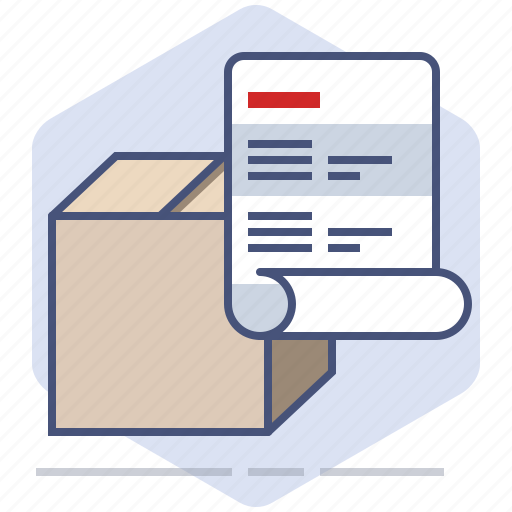 Address, delivery, invoice, logistics, packet, paper, shipping icon - Download on Iconfinder