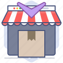 logistics, packet, return, shipping, shop, shopping, store icon