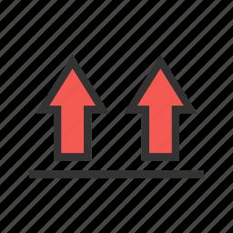 arrow, direction, navigation, pattern, up, upward icon