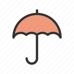 care, help, logistics, sticker, support, transport, umbrella icon