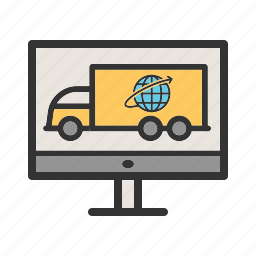 business, delivery, global, online, shipping, transport icon