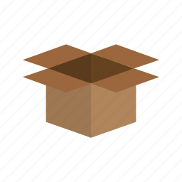 box, container, object, open, package, packaging icon