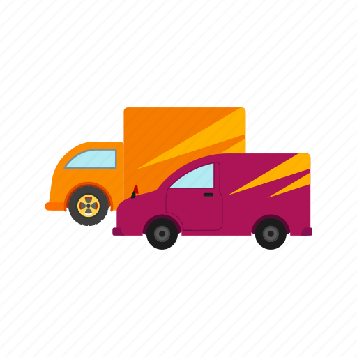 cargo, delivery, fleet, freight, parked, trucks, vehicle icon