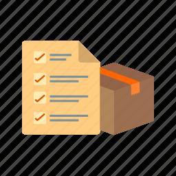 check, checklist, delivery, note, service, tick icon
