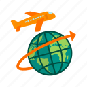 airplane, cargo, flight, freight, global, jet, plane icon