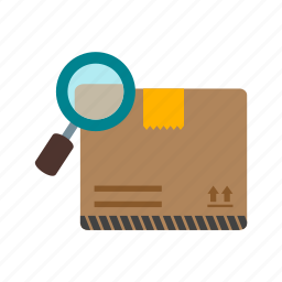 box, delivery, find, logistics, package, set, shipping icon