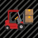 box, container, forklift, lift, truck, shipment, crane