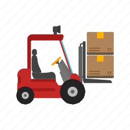 box, container, crane, forklift, lift, shipment, truck icon