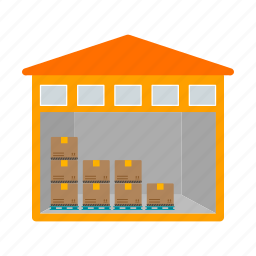 building, business, commercial, industrial, storage, unit, warehouse icon