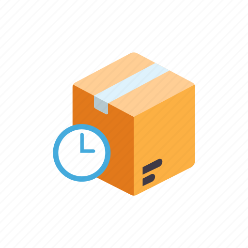 awaiting item, box, container, delayed, delivery, shipment icon