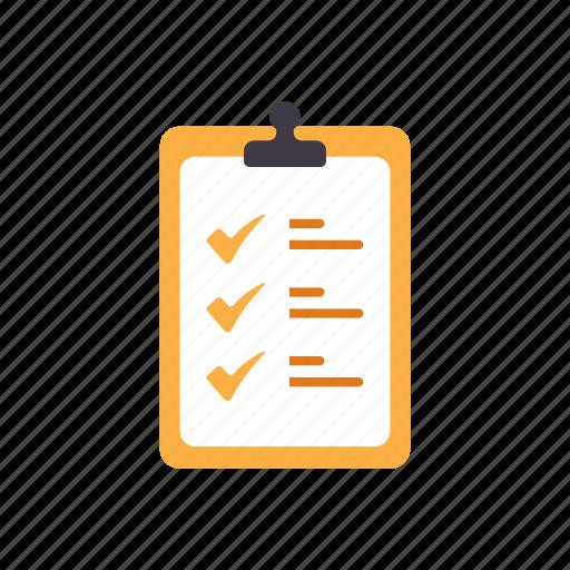checkbox, checklist, document, form, mark, tick icon