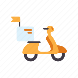 delivery, logistic, motorcycle, scooter, service, shipping, transportation icon
