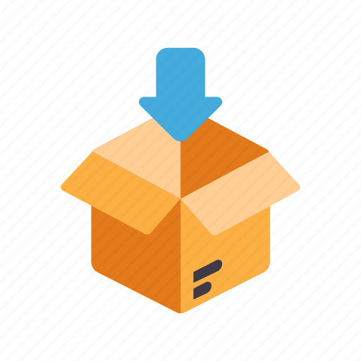 add, loading, open package, order, purchase, put in, shipping icon