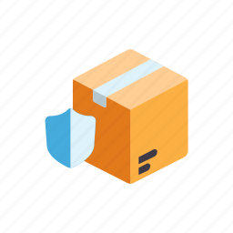 container, delivery, protection, secured package, shipping, symbol icon