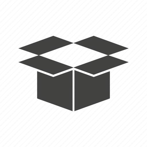 Box, container, object, open, package, packaging icon - Download on Iconfinder