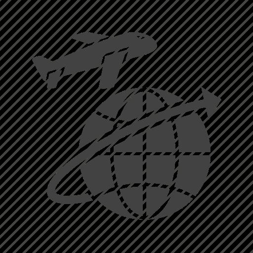 airplane, cargo, flight, freight, global, jet, plane icon