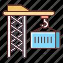 cargo, construction, container, crane