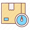 cargo, delivery, package, weighing icon