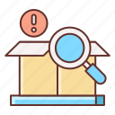 cargo, delivery, inspection, parcel icon