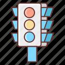 bulb, light, sign, traffic