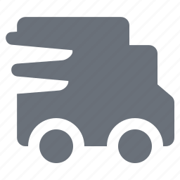 delivery van, industry, logistic, logistics, pika, pixel perfect, simple, transport, transportation, van icon