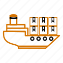 cargo, container, delivery, ship, shipping, transportation icon