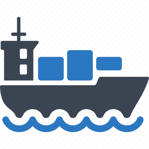 boat, cargo ship, container, logistics icon