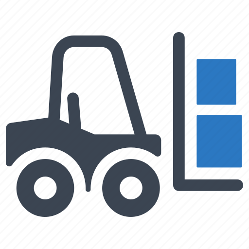 fork truck, forklift, logistics, warehouse icon