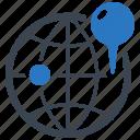 globe, location, pin, gps