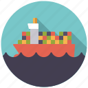 cargo, container, logistics, sea, ship, shipping, transport icon