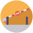 barrier, border, cargo, customs, logistics, shipping, transport icon