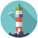 cargo, lighthouse, logistics, navigation, sea, shipping, transport icon