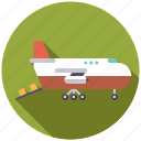 aircraft, airplane, cargo, logistics, plane, shipping, transport icon