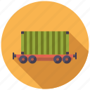 cargo, container, logistics, railway, shipping, transport, wagon icon