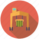 logistics, cargo, harbor, shipping, vehicle, crane, transport icon