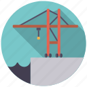 cargo, crane, harbor, logistics, shipping, transport icon