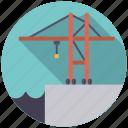 cargo, crane, harbor, logistics, shipping, transport icon