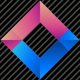 creative, design, diamond, logo, logogram, shape icon