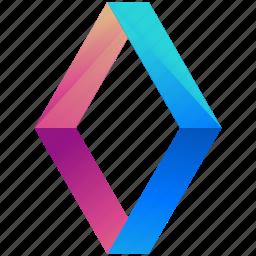 creative, design, diamonds, logo, logogram, shape icon