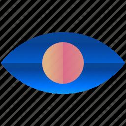 design, eye, logo, logogram, shape, view, vision icon