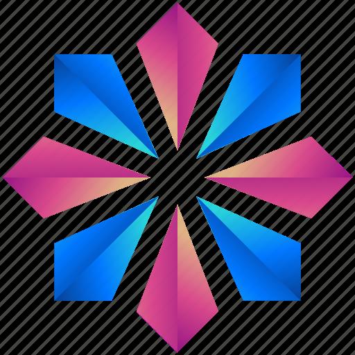 creative, design, floral, flower, logogram, shape icon
