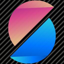circles, creative, design, half, logo, logogram, shape icon