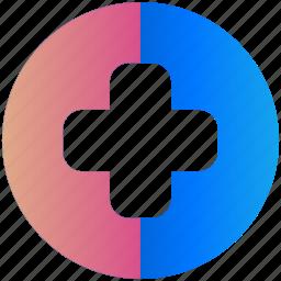 creative, design, health, logo, logogram, medical, shape icon