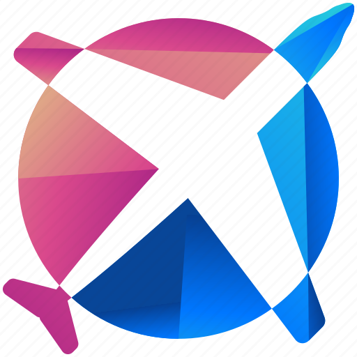 aeroplane, airplane, design, flight, logo, logogram, shape icon