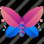 butterfly, creative, design, logo, logogram, shape, wings icon